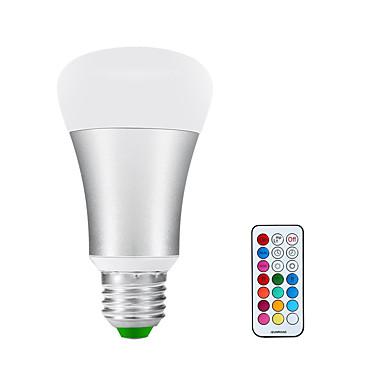 billige Elpærer-LED-globepærer 900-1200 lm E26 / E27 A60(A19) 1 LED perler COB Infrarød sensor Mulighet for demping Varm hvit RGB 85-265 V / 1 stk. / RoHs