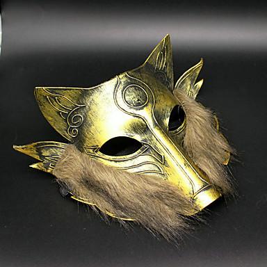 Máscara de lobo de ferro 1pc para decoração de festa de fantasia de Halloween (cor aleatória)