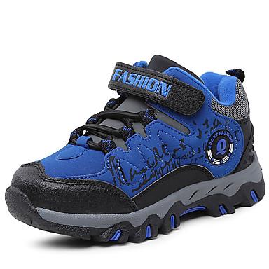 Para Meninos sapatos Couro Ecológico Primavera Outono Conforto Tênis Aventura Cadarço para Casual Laranja Azul