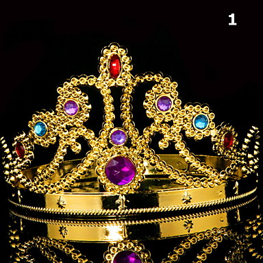 cheap Masks-King Headdress Queen Head Ring Crown King King Crown Crown Exquisite Cosply Jewelry
