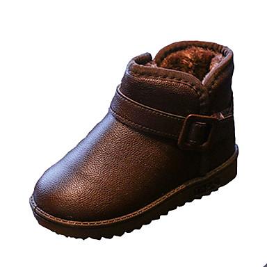 Meisjes Schoenen PU Herfst / Winter Comfortabel Laarzen Wandelen Rits voor Bruin / Rood / Roze