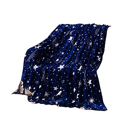 bedtoppings huopa flanelli koralli fleece queen 200x230cm tumma tähti tulosteita 210gsm