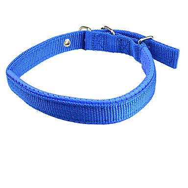 犬 カラー 調整可能 / 引き込み式 ソリッド ナイロン ブラック レッド ブルー