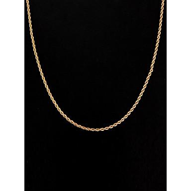Pentru femei Figaro lanț Lănțișoare - Argilă, Placat Auriu stil minimalist Auriu Coliere Pentru Nuntă, Petrecere, Zilnic
