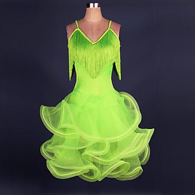 Mais Fantasias Fantasias de Cosplay Natal / Dia Das Bruxas / Carnaval Festival / Celebração Trajes da Noite das Bruxas Amarelo / Verde Sólido / Rendas