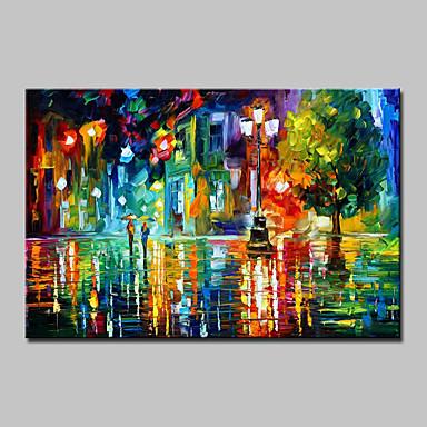 Pintados à mão Paisagem Horizontal, Modern Tela de pintura Pintura a Óleo Decoração para casa 1 Painel