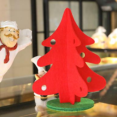 Weihnachtsgeschenk 1pc Tisch Weihnachtsbäume Dekoration Weihnachtsbaum mit Verzierung für