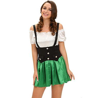 Satuteema Oktoberfest Cosplay-Asut Naisten Halloween Karnevaali Festivaali / loma Halloween-asut Yhtenäinen