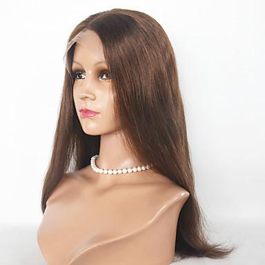 Synthetische Haare Perücken Gerade Natürliche Perücke Medium Mittelbraun Natürlich Schwarz Dunkelbraun