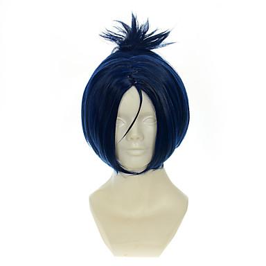 Kostymeparykker / Syntetiske parykker Rett Blå Dame Lokkløs Cosplay-parykk Syntetisk hår