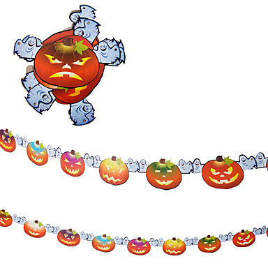 1pc 2,4m a cena house bar assombrado adereços Halloween abóboras esqueleto guirlanda decoração suprimentos