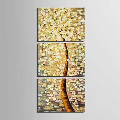 E-HOME® Stretched Canvas Art Tree Decorative Painting Set of 3