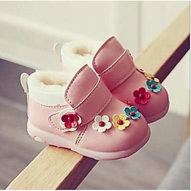 Tyttöjen Kengät Synteettinen Comfort Mokkasiinit Kanssa Käyttötarkoitus Kausaliteetti Punainen Pinkki