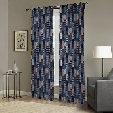 Eén paneel Window Behandeling Designer , Geruit Woonkamer Polyester Materiaal Curtains Drapes Huisdecoratie For Venster