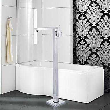 Hedendaagse Art Deco / Retro Modern Bad en douche Inclusief handdouche Wijdverspreid Staat op vloer Keramische ventiel Single Handle Een