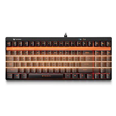Rapoo Mit Kabel Einfarbige Hintergrundbeleuchtung Schwarze Schalter 92 Mechanische Tastatur Hinterleuchtet Programmierbar