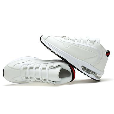 Feminino-Tênis-Conforto-Rasteiro-Vermelho Branco Preto e Branco-Couro Ecológico-Para Esporte
