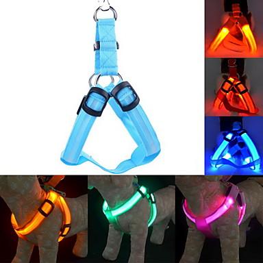 Pisici / Câine Hamuri / Lese / Antrenament Lumini LED / Ajustabile / Retractabil Mată Nailon Albastru / Roz / Roșu Închis