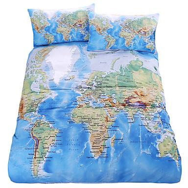 Bettbezug-Sets Zeitgenössisch Polyester / Baumwolle Reaktivdruck 3 Stück / 200 / 3-teilig (1 Bettbezug, 2 Kissenbezüge)