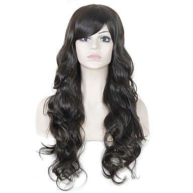 Synteettiset hiukset Peruukit Laineita Otsatukalla Suojuksettomat Luonnollinen peruukki