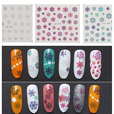 3pcs Nail Art Sticker 3D Nagelstickers make-up Cosmetische Nail Art Design