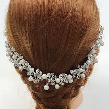 kristalli akryyli metalliseos headbands kukkia headpiece tyylikäs tyyli
