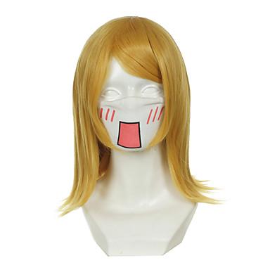 Kostymeparykker / Syntetiske parykker Rett Blond Dame Lokkløs Cosplay-parykk Syntetisk hår