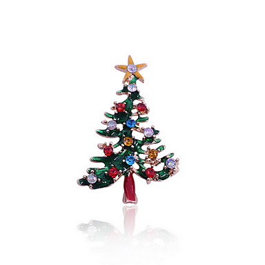 女性用 イミテーションダイヤモンド ブローチ - ぜいたく / 多色 / クリスマス グリーン ブローチ 用途 クリスマスギフト / 日常 / カジュアル