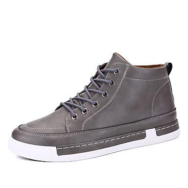 メンズ 靴 レザーレット 春 夏 秋 冬 コンフォートシューズ スニーカー 用途 カジュアル ブラック グレー Brown