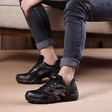 Dame Jazz-sko / Moderne sko Tekstil Høye hæler Tykk hæl Kan ikke spesialtilpasses Dansesko Grå / Gylden / Ytelse