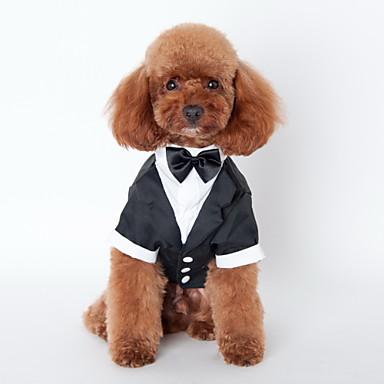 Katze Hund Smoking Hundekleidung Schleife Schwarz Baumwolle Kostüm Für Haustiere Herrn Niedlich Cosplay Hochzeit