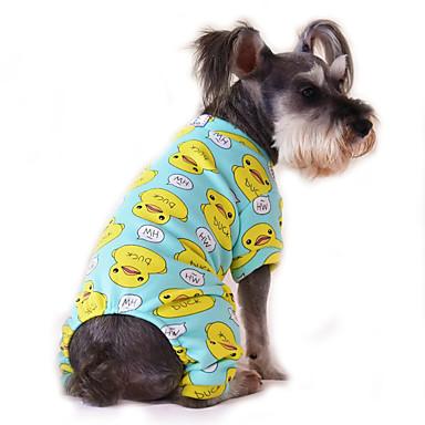 Gato Perro Mono Pijamas Ropa para Perro Caricatura Amarillo Rojo Azul Rosa Azul-Amarillo Algodón Disfraz Para mascotas Hombre Mujer