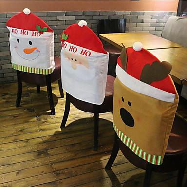 moda tampão de Santa cláusula de chapéu vermelho cadeira de móveis de volta cobrir natal tabela de jantar do partido do Xmas decoração do