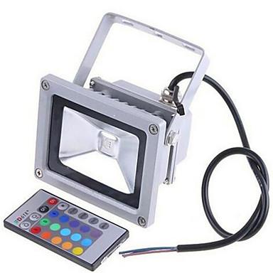 abordables Éclairage Extérieur-2200lm 85-265V / 12-24v 20w lampe infrarouge rgb coloré de contrôle à distance du paysage