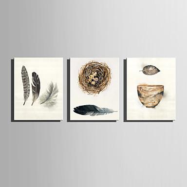Naturaleza muerta Estilo europeo, Tres Paneles Lona Vertical Estampado Decoración de pared Decoración hogareña