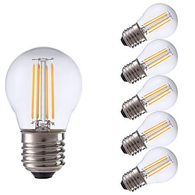 E26/E27 Lâmpadas de Filamento de LED P45 4 COB 300 lm Branco Quente 2700 K Decorativa V