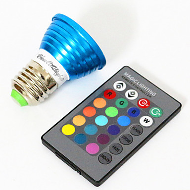YouOKLight 3W 200-250lm E26 / E27 Focos LED MR16 1 Cuentas LED LED de Alta Potencia Decorativa RGB 85-265V