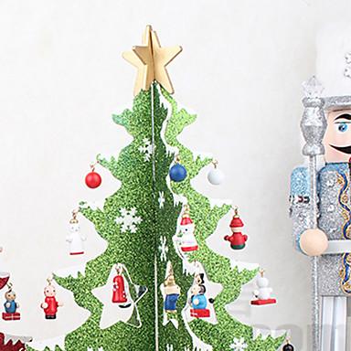 36cm creative wooden christmas tree decorations three dimensional model desktop ornament