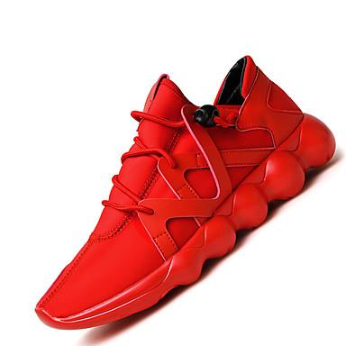 Masculino sapatos Sintético Primavera Verão Outono Inverno Conforto Tênis Cadarço Para Casual Preto Roxo Vermelho