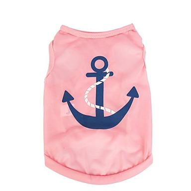 Kat Hund T-shirt Vest Hundetøj Sømand Rose Lys pink Lyseblå Terylene Kostume For kæledyr Herre Dame Sødt Afslappet/Hverdag Ferie