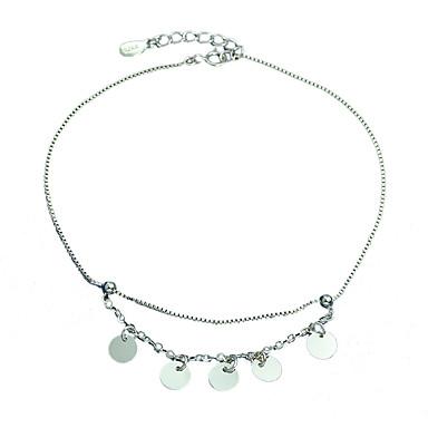 Dames Armbanden met ketting en sluiting Modieus Sterling zilver Cirkelvorm Zilver Sieraden Voor Feest Dagelijks Causaal 1 stuks
