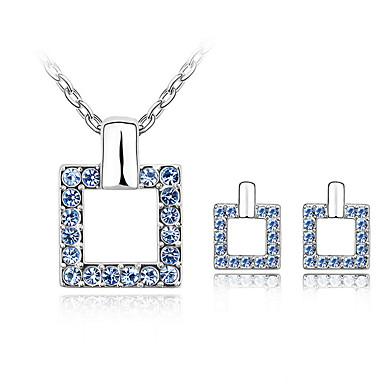 Sieraden Kettingen / Oorbellen Sieraden Set Kristal Modieus Dagelijks 1 Set Dames Kussenhoezen / Roos / Marineblauw / Wit / Blauw / Paars
