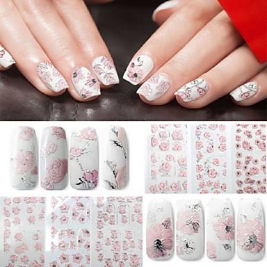 4 pcs Calcomanías de Uñas 3D arte de uñas Manicura pedicura Moda Diario / Pegatinas de uñas 3D