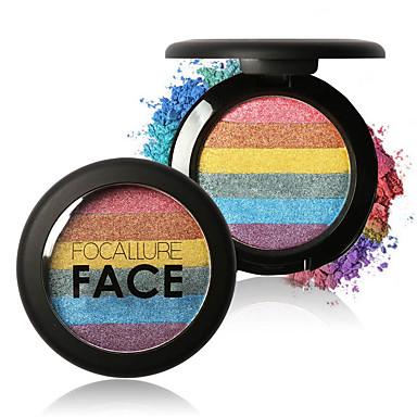6 Highlighters & Bronzers Droog Glinstering Mineraal Poeder Glanzende Glitter Lipgloss Gekleurde Lipgloss Langdurig Naturel waterdicht