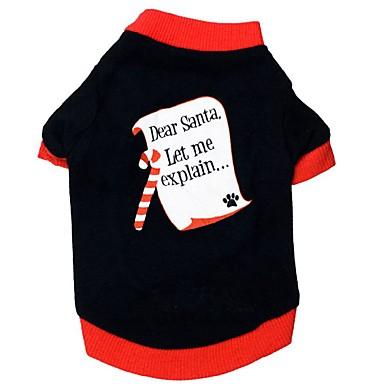 Gato Cachorro Camiseta Roupas para Cães Estampa Colorida Preto Algodão Ocasiões Especiais Para animais de estimação Homens Mulheres