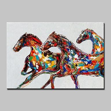 Pintados à mão Animais Horizontal, Modern Tela de pintura Pintura a Óleo Decoração para casa 1 Painel