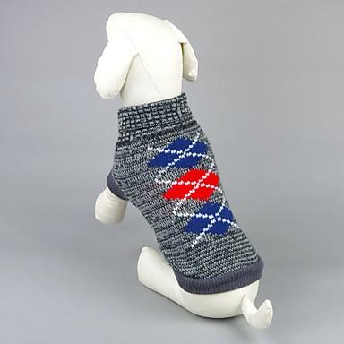 Kat Hund Gensere Hundeklær Geometrisk Grå Rosa Akryl Fiber Kostume For kjæledyr Herre Dame Fritid/hverdag