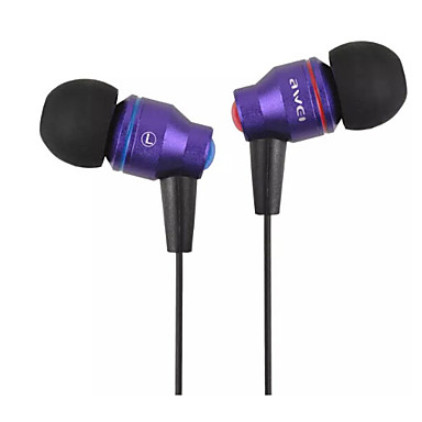AWEI ES-800i Im Ohr Mit Kabel Kopfhörer Aluminum Alloy Handy Kopfhörer Mit Mikrofon Headset