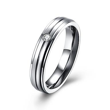 Damen Ring Kubikzirkonia Luxus-Schmuck Edelstahl Diamantimitate Schmuck Für Normal