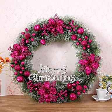 1 stk jul krans åler juledekorasjon for hjemmefest diameter 60cm navidad nye året forsyninger